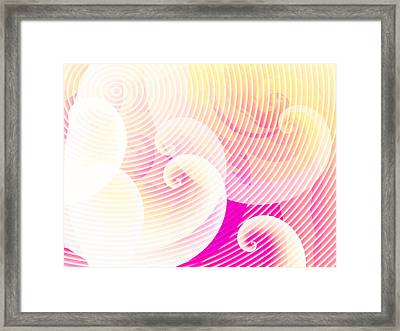 Spirals Framed Print by Digital Artist