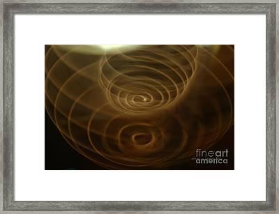 Spirals Of Light Framed Print by Vicki Ferrari