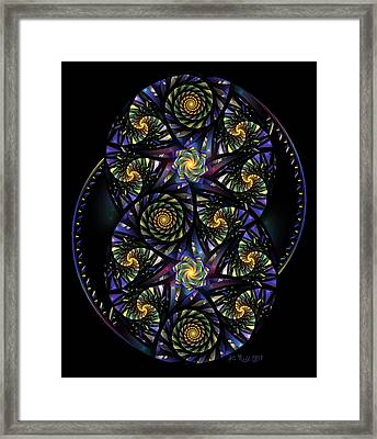Spirals Of The Night Framed Print