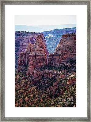 Spires And Mesa Country Framed Print