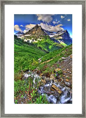 Spires And Stream Framed Print