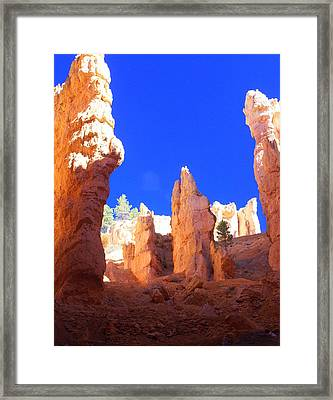 Spires Framed Print by Marty Koch