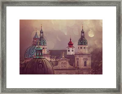 Spires Of Salzburg  Framed Print by Carol Japp