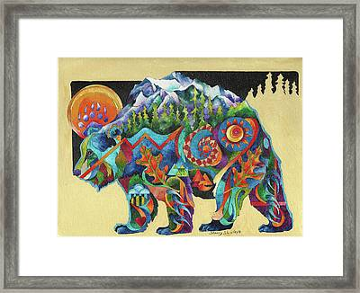 Spirit Bear Totem Framed Print