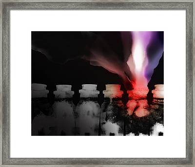 Spirit Bottles Framed Print