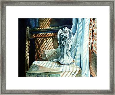 Spirit Breeze Framed Print by Carolyn Coffey Wallace