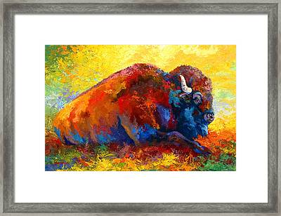 Spirit Brother - Bison Framed Print