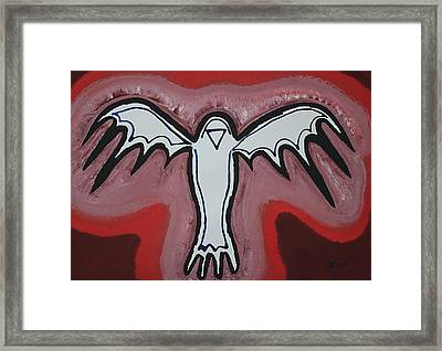 Spirit Crow Original Painting Framed Print by Sol Luckman