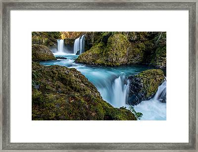 Spirit Falls Columbia River Gorge Framed Print