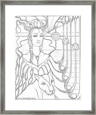 Spirit Guide Selmutee The Lemurian Framed Print by Debra A Hitchcock