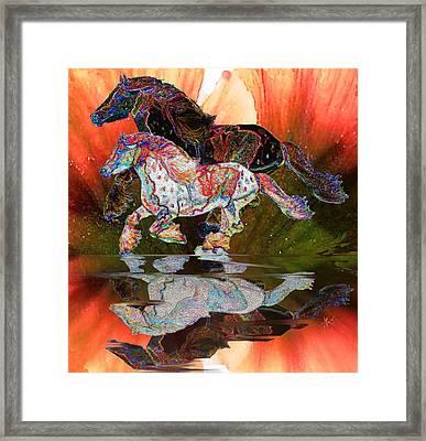 Spirit Horse II Leopard Gypsy Vanner Framed Print