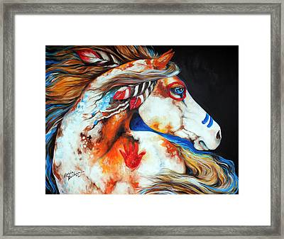 Spirit Indian War Horse Framed Print by Marcia Baldwin