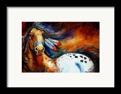 War Pony Framed Prints