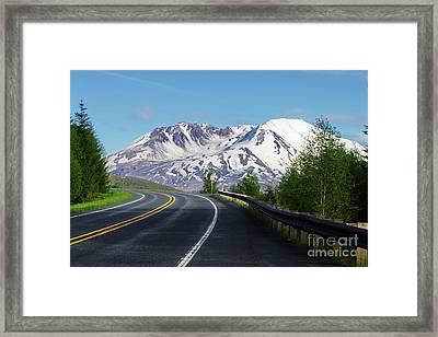 Spirit Lake Highway To Mt. St. Helens Framed Print