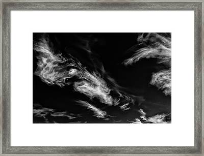 90289 Spirit Man Fface In Cloud Framed Print