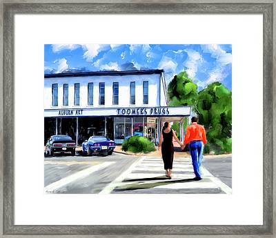 Spirit Of Auburn - Toomer's Corner Framed Print by Mark Tisdale