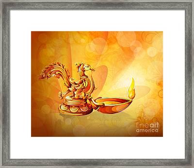 Spirit Of Diwali Framed Print by Bedros Awak