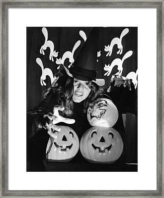 Spirit Of Halloween Framed Print by Underwood Archives