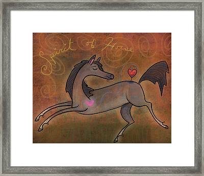Framed Print featuring the digital art Spirit Of Horse by Marti McGinnis