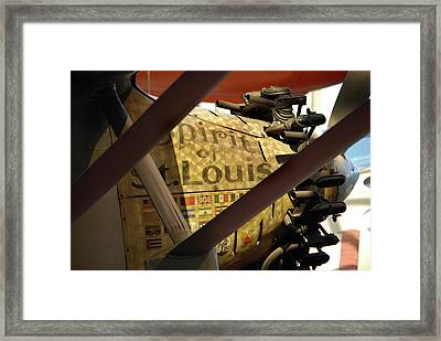 Spirit Of St Louis At Smithsonian Framed Print by Skip Willits