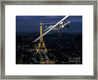 Spirit Of St. Louis, Charles Lindbergh, The Lone Eagle Framed Print