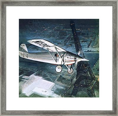 Spirit Of St Louis Framed Print by English School