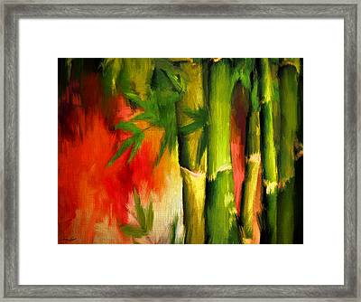 Spirit Of Summer- Bamboo Artwork Framed Print by Lourry Legarde