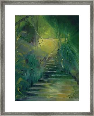 Spirit Of The Amazon Framed Print by Zoe Landria