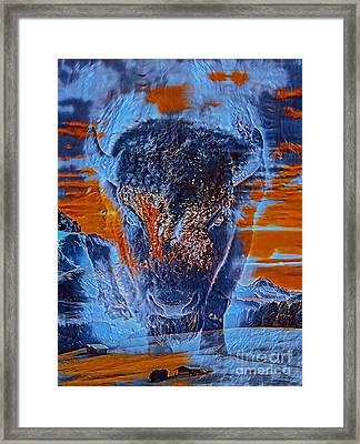 Spirit Of The Buffalo Framed Print