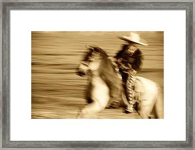 Spirit Of The Charro3 Framed Print by Nick Sokoloff
