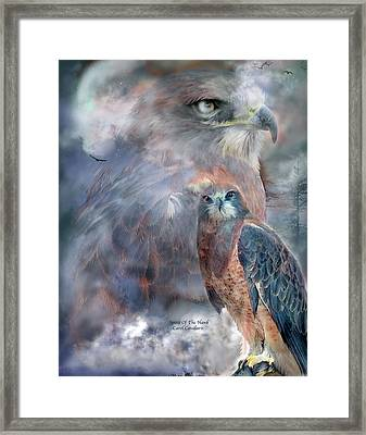 Spirit Of The Hawk Framed Print by Carol Cavalaris