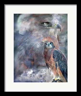 Spirit Hawk Art Framed Prints