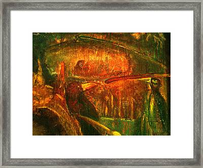 Spirit Of The Jungle Whale Framed Print by Kicking Bear  Productions