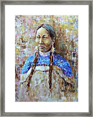 Spirit Of The Lakota Framed Print by Neil Jones