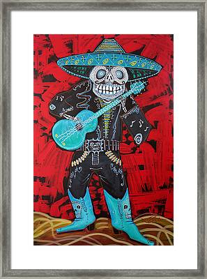 Spirit Of The Mariachi Framed Print by Laura Barbosa