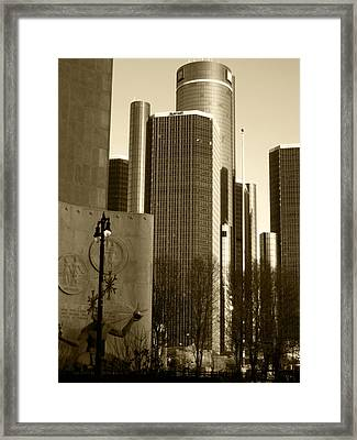 Spirit Of The Ren Cen Framed Print