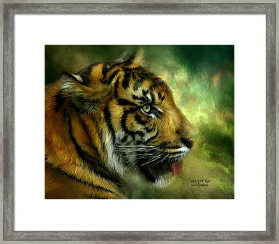 Spirit Of The Tiger Framed Print by Carol Cavalaris