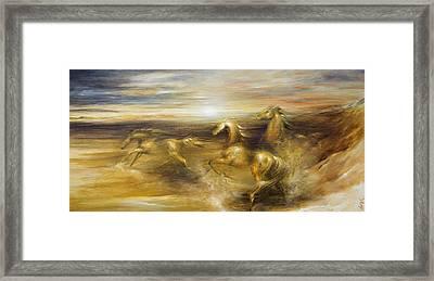 Spirit Of The Warrior Horse Framed Print by Dina Dargo