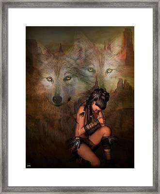 Spirit Of The Wolf 02 Framed Print