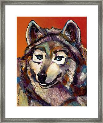 Spirit Of The Wolf Framed Print by Bob Coonts
