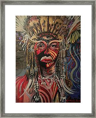 Framed Print featuring the painting Spirit Portrait by Amzie Adams