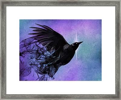 Spirit Raven Framed Print