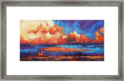 Spirit Sky Framed Print by Marion Rose
