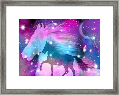 Spirit Stallion Midnight Run Framed Print