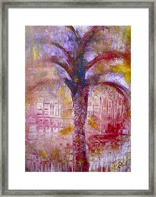 Framed Print featuring the painting Spirit Tree by Claire Bull