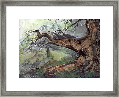 Framed Print featuring the painting Spirit Tree by Sherry Shipley