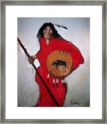 Spirit Warrior Framed Print by Patrick Trotter