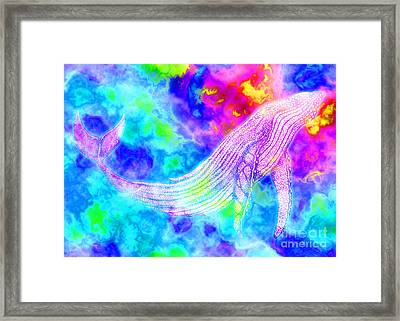 Spirit Whale 3 Framed Print by Nick Gustafson