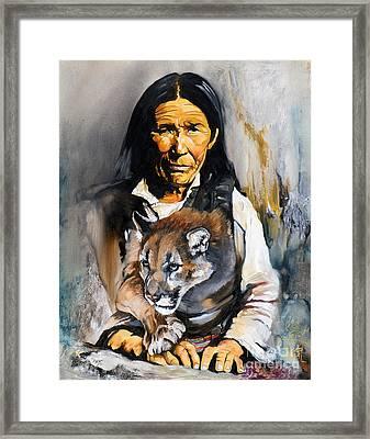 Spirit Within Framed Print by J W Baker