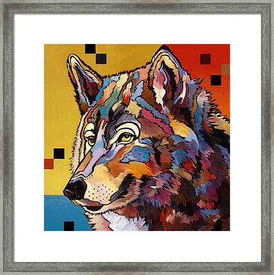 Spirit Wolf Framed Print by Bob Coonts